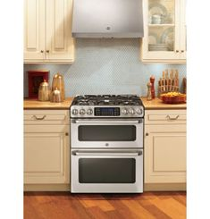 """GE Cafe™ 30"""" 6.7 Cu. Ft. Double Oven Gas Range with Convection"""