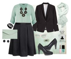 """""""Mint"""" by shinemore ❤ liked on Polyvore featuring H&M, maurices, Swarovski, Stella + Ruby, Danielle Nicole, Tiffany & Co., 3.1 Phillip Lim, Deepa Gurnani, Forever 21 and Clarins"""