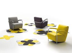 Contemporary armchair / fabric / leather SCYLLA by Gerard Vollenbrock Leolux