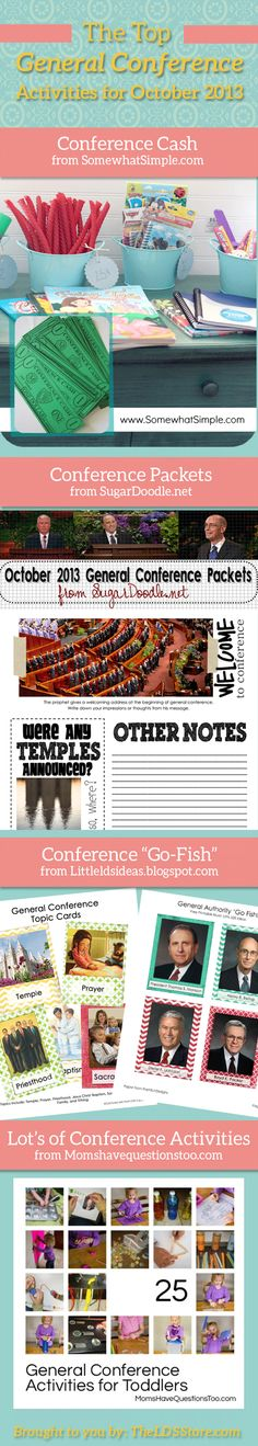 Awesome General Conference Activities for kids!!