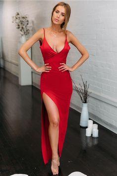 Bullseye Maxi Dress Red