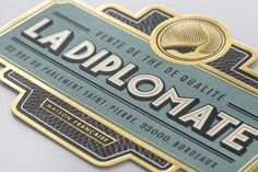 La Diplomate Fine Tea shop in Bordeaux, France identity by Rice Creative. Photoshop Fail, Packaging Design Inspiration, Graphic Design Inspiration, Daily Inspiration, Design Ideas, Identity Design, Visual Identity, Brand Identity, Badges