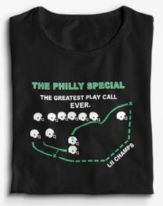 The greatest call in sports history. Live this historic Philadelphia moment over and over again!  100% Cotton ring-spun Machine Wash  Solid crew-neck T-shirt featuring short sleeves