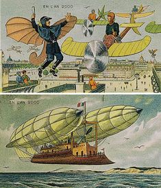 History of the future, from 1910; life it the sky, the year 2000