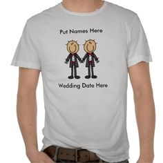 Male Gay Wedding To Customize T-shirt