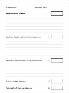 blank bank reconciliation form