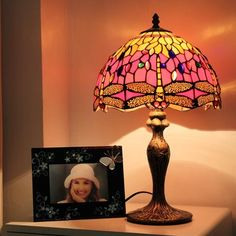 Dragonfly Gems Tiffany Bedside Lamp