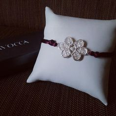 Lavocca jewellery lace bracelet silver hand-made