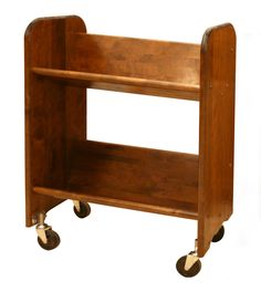 The Catskill Craftsman Bookmaster Book Cart is a versatile shelf storage option for almost any room. This durable book cart is constructed from your. 2 Shelf Bookcase, Storage Shelves, Bookshelves, Book Storage, Shelving, Library Cart, Woodworking Desk Plans, Woodworking Forum, Woodworking Equipment