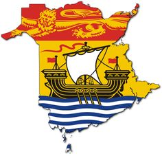 New Brunswick Flag Sticker (Canada Canadian Province) New Brunswick Flag, New Brunswick Canada, Canadian Provincial Flags, Canadian Flags, Canadian Things, Atlantic Canada, O Canada, Canada Travel, Saint Jean