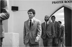 groomsmen entering wedding