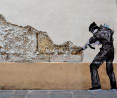 Urban Interventions: Street Art by Levalet – Inspiration Grid   Design Inspiration #streetart #street #graffiti #art #artwork #urban #urbanjungle #inspirationgrid