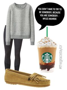 """""""My morning look!"""" by graciep0o on Polyvore featuring Beyond Yoga, Minnetonka and Uniqlo"""