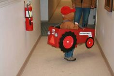Red tractor costume