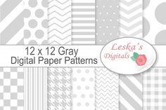 Digital Paper - Grey, Gray @creativework247