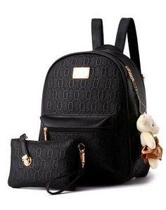 Women Backpack Leather School Bag Women Casual Style Backpacks +