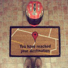 GPS Doormat - £19.98 - Funny Door Mat you have reached your destination !