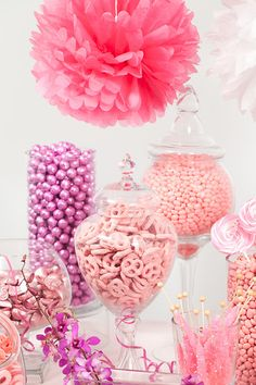 Pink Candy Buffet #nutsdotcom  #wedding