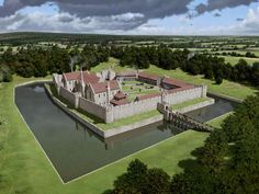 Eltham Palace as it may have looked in the early 14th Century when it belonged to Bishop Bek by Peter Urmston