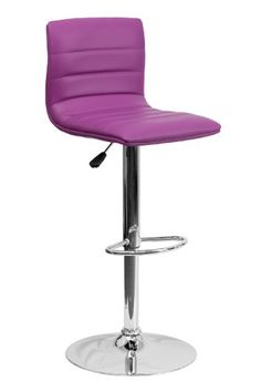 super comfy and cute!  Contemporary Yellow Vinyl Adjustable Height Bar Stool with Chrome Base [CH-92023-1-YEL-GG] Purple Flash Furniture http://www.amazon.com/dp/B00FMCLWWQ/ref=cm_sw_r_pi_dp_Z-aXub0Z2HFD5