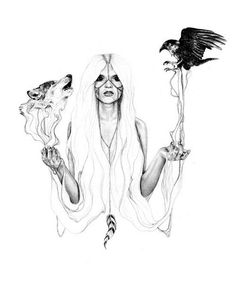 Illustration by Abbey Watkins / Tobacco for Somedays Lovin Illustrations Poster, Illustration Mode, Fashion Illustrations, Tigh Tattoo, Mode Collage, Raven And Wolf, Arte Sketchbook, Wolf Girl, Foto Art