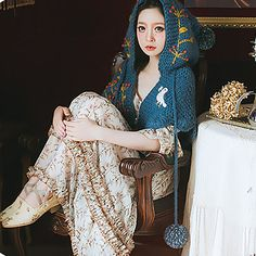 Every girl is a fairy in the beach!!! 2017 new fashion vintage cape - embroidered wool ball berries with blue shawls Material: ★ Measurements 70% cotton 20% wool 10% polyester Payment: Paypal Only! NOTE: The colors of actual item may vary from picture because of computer monitors,