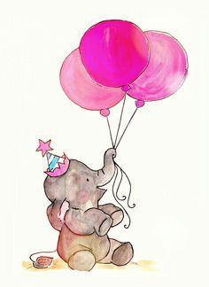 #elefante #aniversario #rosa #balões #bexiga