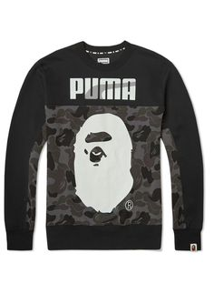 BAPE X Puma Crew Camouflage Sweat A Bathing Ape Sweater Shirt Men's Sweatshirt in Camo Black