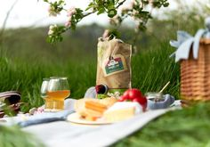 Orchard picnic with cheese, pepper, cider #cider #cheese #picnic #pepper