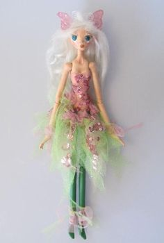 BUG FAIRY, handmade Japanese paper clay OOak doll, primitive puppet style