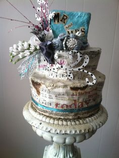 Unique Upcycled Wedding Cake Topper by TwiceBeloved on Etsy, $85.00