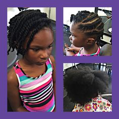 """Natural """"Little Diva"""" Up Do  For Bookings: 901-347-4874 or carolejaiartistry@icloud.com"""