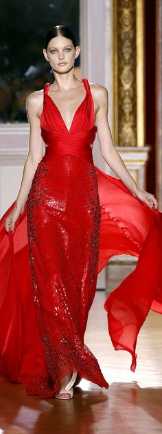 Zuhair Murad 2012/13  The gown is beautiful, but the model looks like she has Anorexia.  That is tragic!