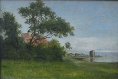 Johan Thomas Lundbye (1818-1848): From the lime kiln. A summer's day with a view over the Øresund