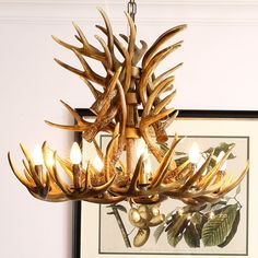 Faux Antler Chandelier Antler Lighting Country Nordic Style Two-Tier with 9 Lights Dining Room Lighting Ideas Living Room Bedroom Lighting Deer Antler Chandelier, Antler Lights, Dining Room Lighting, Bedroom Lighting, Trendy Living Room Wallpaper, Modern Rustic Chandelier, Painted Antlers, Cream Living Rooms, Paint Colors For Living Room
