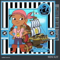 Ahoy Matey 3 by Isabel Neves Ahoy Matey 3 - Mini Kit Includes Card Front Mini Print & Fold Card Card Insert Tiles Decoupage Sentiment Tags and Preview
