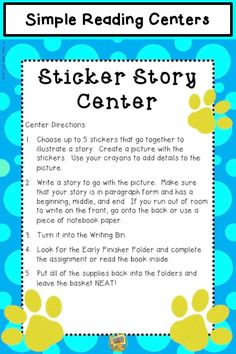 6 easy to use centers! Just set them up and use them all year long. All you need to do is replenish some copies and change out some tradebooks once a month! Reading Centers, Literacy Centers, Grade 1, Second Grade, Esl, Book Of Changes, Thing 1, First Grade Teachers, Reading Comprehension