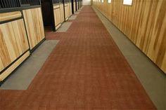 "Barn Flooring - Mats - Interlocking I Brick 3.28' x 3.69' x 1.125"" (30mm) Terra Cotta Colour Rubber - System Fencing"