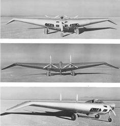 Northrop N1M Experimental Flying Wing. Experimental. First flown 3 July 1940