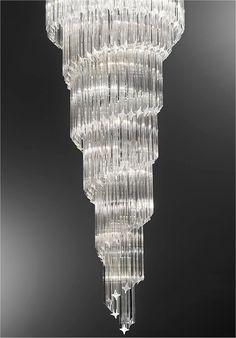 Italian Cascading Crystal Pendant..1460mm