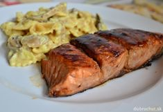 Losos na spôsob Teriyaki Steak, Pork, Food And Drink, Kale Stir Fry, Steaks, Pork Chops
