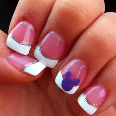 @Meagan Noonan Disney nails for wedding, but have Mickey in blue, and smaller for my something blue.