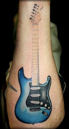 Image detail for -... Tattoo Gathering : Tattoos : Music : Color Photo Realistic Guitar