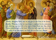 The Feast of St. Thomas the Apostle.