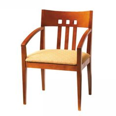 Masque Arm Chair Wood Back