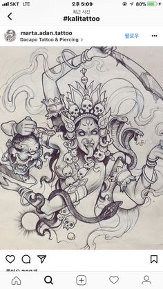 how to draw sketches Hindu Tattoos, God Tattoos, Buddha Tattoos, Future Tattoos, Body Art Tattoos, Tattoo Drawings, Art Drawings, Kali Tattoo, Costume Carnaval