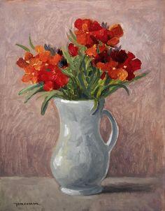 Flower Paintings, Vase, Home Decor, Flowers, Paintings Of Flowers, Decoration Home, Room Decor, Flower Pictures, Jars