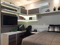 √ Teenage Girl Bedroom Ideas For Small Rooms Bedroom Workspace, Home Office Bedroom, Bedroom Setup, Small Room Bedroom, Trendy Bedroom, Home Office Decor, Small Rooms, Modern Bedroom, Bedroom Decor