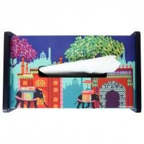 Elephant Savari Tissue Box Holder by The Elephant Company