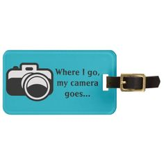 Photography Camera Design Luggage Tags